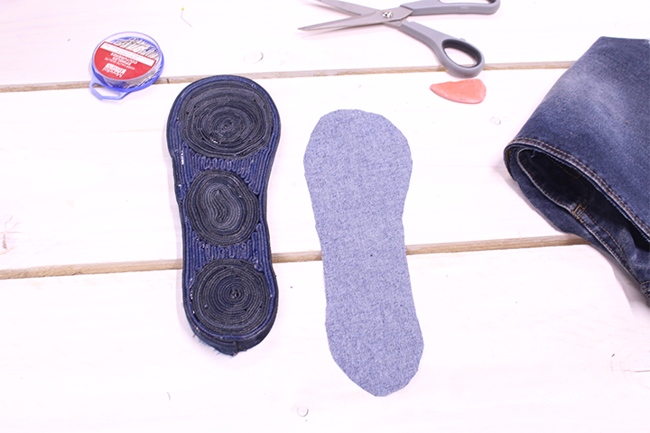 Espadrilles en jean - Mondial Tissus