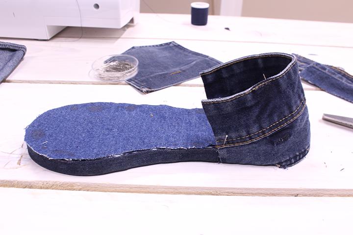 Coudre espadrilles en jean - Mondial Tissus