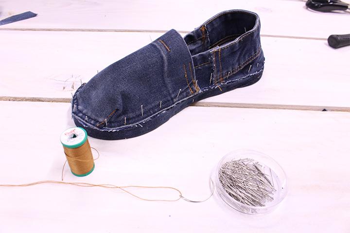 Espadrilles jean DIY - Mondial Tissus